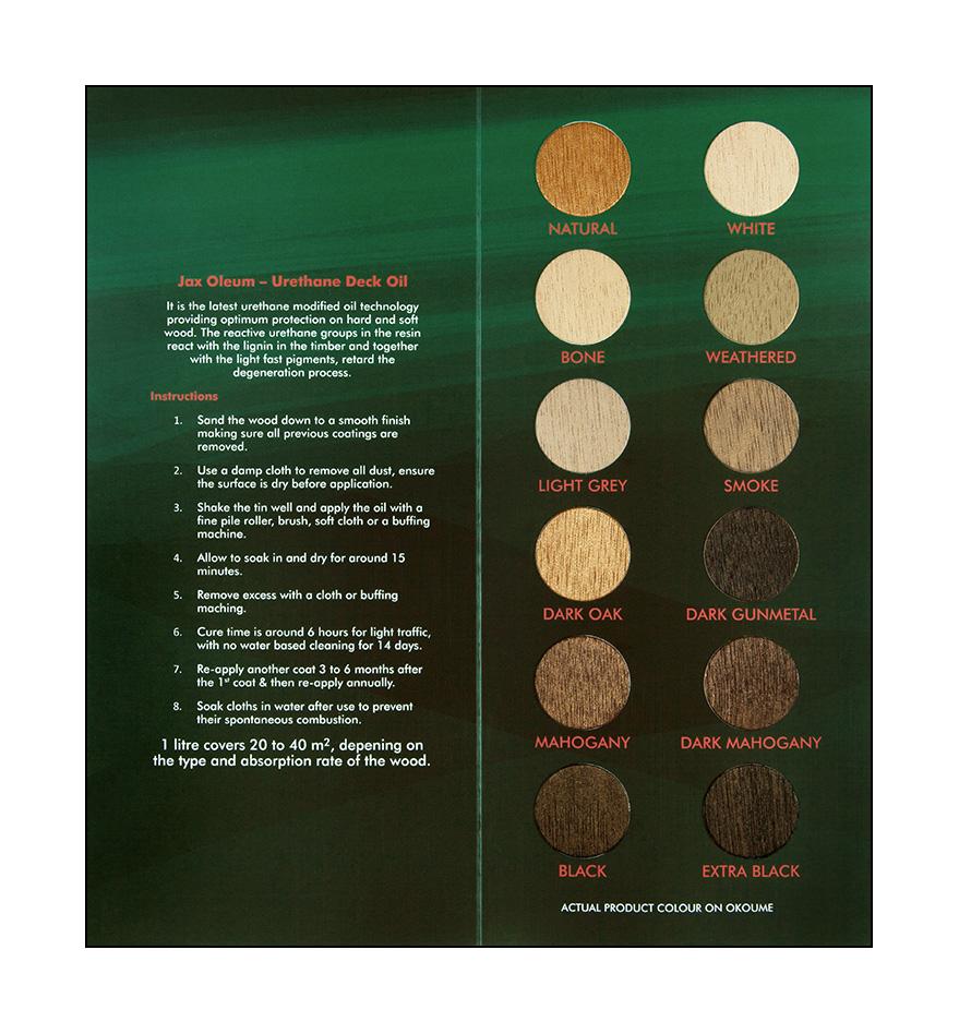 Deck Oil Colour Chart